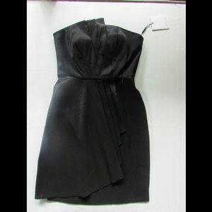 NWT Calvin Klein black strapless mini dress